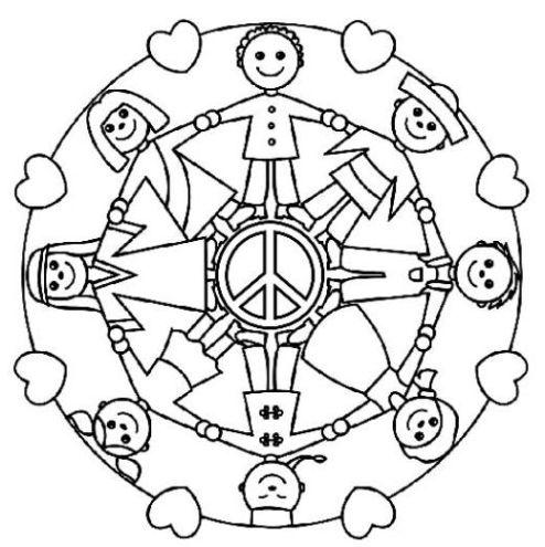 Resultado de imagen para mandalas para niños paz